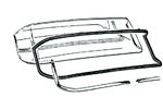 Ford Parts -  Back Glass Rubber Fairlane, Fairlane 500 Town Sedan & Victoria,  Fairlane 500 Club Victoria & Sedan
