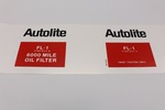 "Ford Parts -  6000 Mile Oil Filter Decal ""Autolite Fl1"""