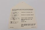Ford Parts -  Heater Instruction Tag