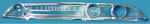 Ford Parts -  Instrument Cluster Face Lens, Exact Copy Of Original, Plastic Galaxie (Official Ford License)