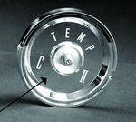 Ford Parts -  Temperature Gauge Lens Galaxie