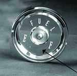 Ford Parts -  Fuel Gauge Lens Galaxie