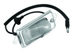 Ford Parts -  License Plate Light - Complete Assembly W/ Wiring, Socket, Housing, Lens & Mounting Bracket - Fits All Galaxie (Exc. Station Wagon)