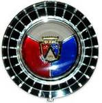 Ford Parts -  Wheel Cover Emblem - Red, White & Blue For Wire Spoke Wheels