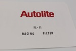 Ford Parts -  Autolite Racing Oil Filter Decal, Ford Part #Fl-11