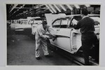 "Ford Parts -  Photo - Assembly Line - Attaching Trim To Body - 12"" X 18"""