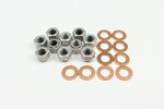 Ford Parts -  Housing Stud Kit - Original Style, Cadmium Plated, Self Locking Nuts. Correct Washers (Inc. 10 Nuts & 10 Washers)