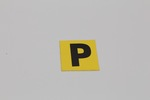"Ford Parts -  Paint Decal ""P"" Paint Ok Decal - Yellow"