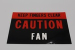 "Ford Parts -  Radiator ""Caution Fan"" Decal"